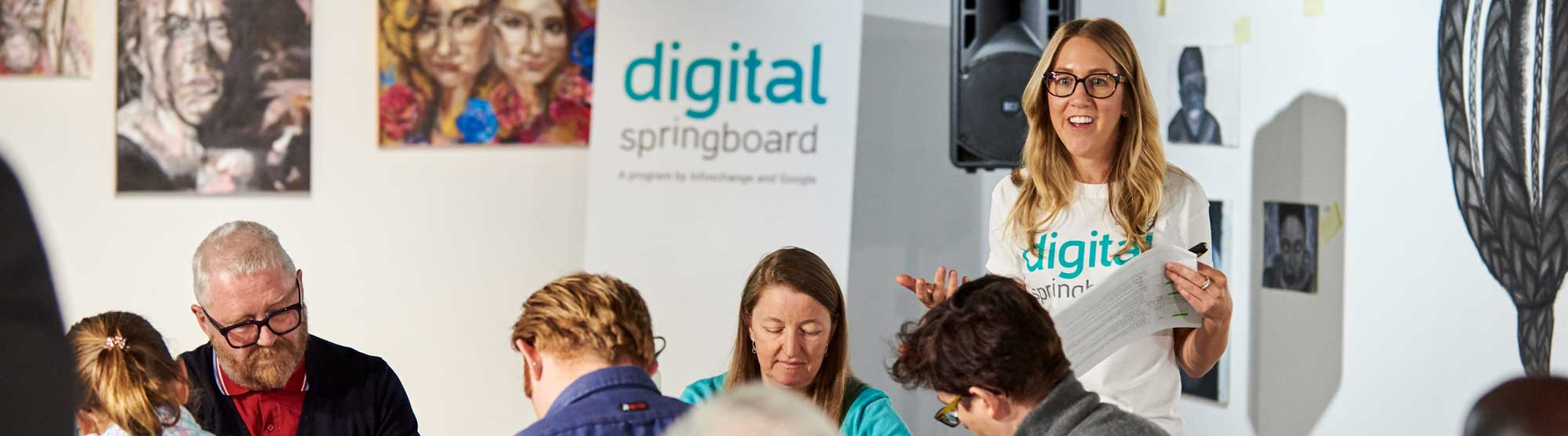 Trainer delivering Digital Springboard course