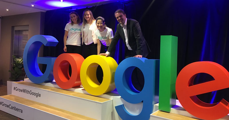 Digital springboard team at a Grow with Google event