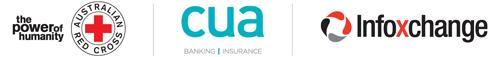 CUA, Infoxchange and Australian Red Cross logos